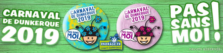 Badge Carnaval de Dunkerque 2019